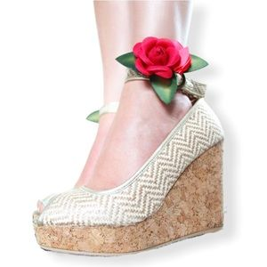 Anthropologie | Joyfolie Alma Natural Cork Wedges